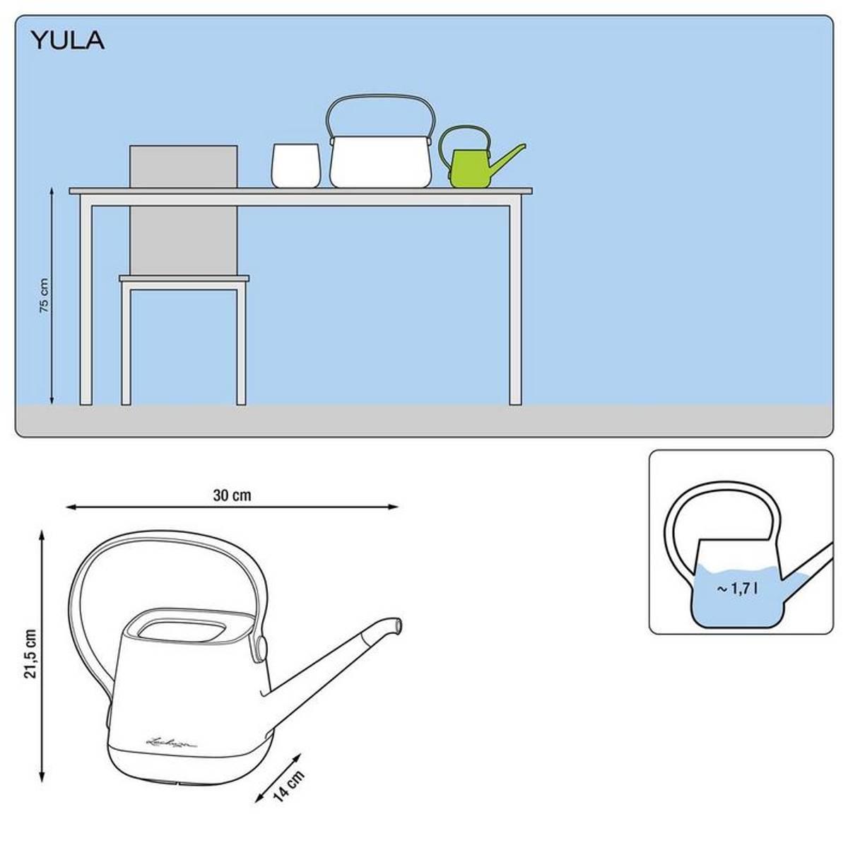 YULA Vannkanne 'White/Pistachio' 1,7 liter, Lechuza